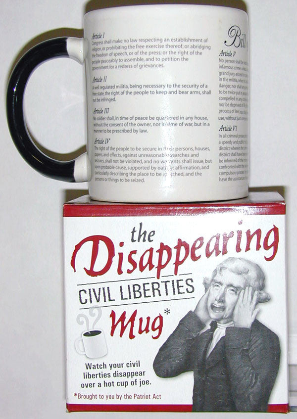 Mug Disappearing Civil Liberties