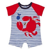 CRAB RAGLAN ONE PIECE- 3 MONTHS
