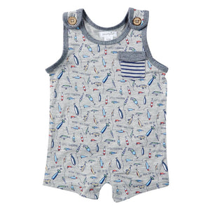FISHING LURE ROMPER 0-3 MONTHS