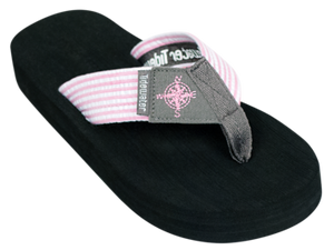 TIDEWATER PINK/GRAY COMPASS SANDAL