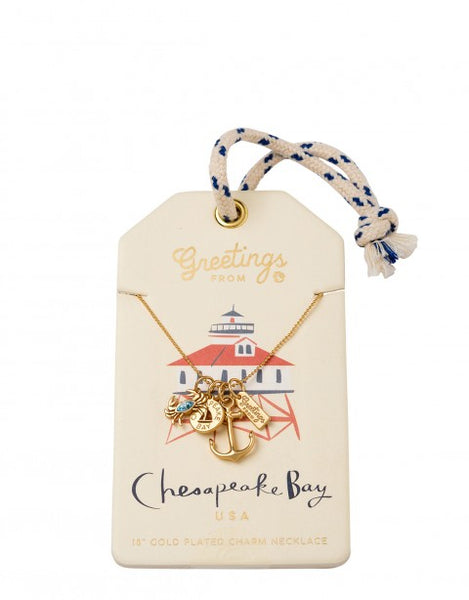 CHESAPEAKE BAY CHARM NECKLACE