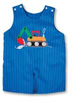 BACKHOE ROYAL BLUE STRIPED ROMPER