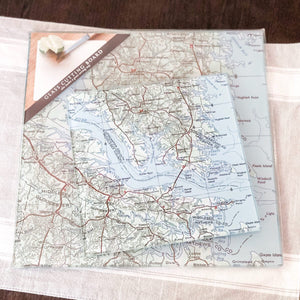 "12"" NAUTICAL CHART CUTTING GLASS BOARD"