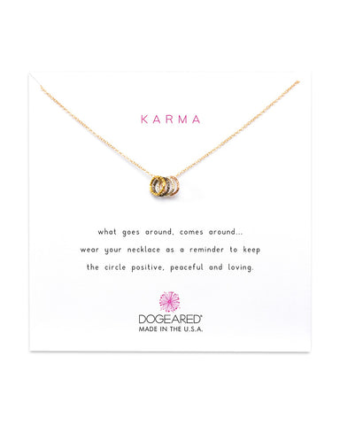 TINY SPARKLE KARMA NECKLACE GOLD