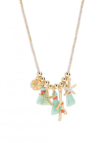 SEA TREASURES BITTY NECKLACE 18""