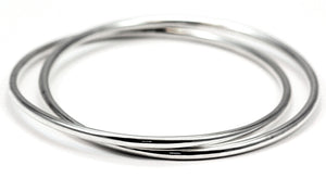 STERLING SILVER DOUBLE BANGLE BRACELETS