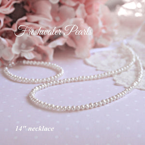 "14"" FRESHWATER PEARL NECKLACE"