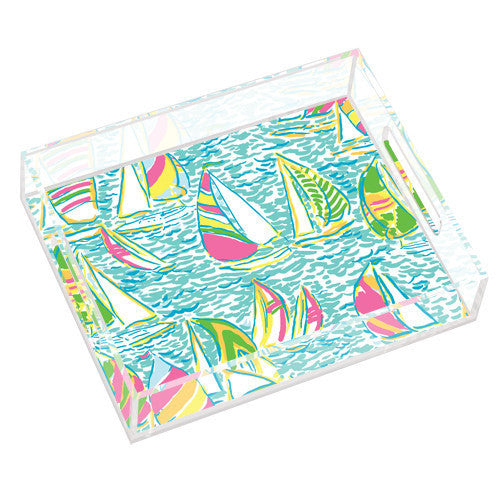 LILLY PULITZER SMALL TRAY-UGOTTA REGATTA