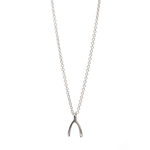WISH NECKLACE SS TEENY WISHBONE