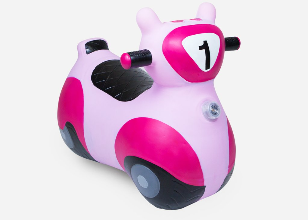 SCOOTER BOUNCY TOY PINK