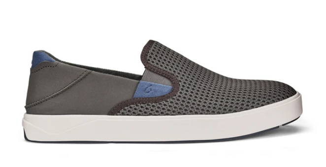 OLUKAI LAE'AHI MENS SLIP ON SNEAKERS IN PAVEMENT