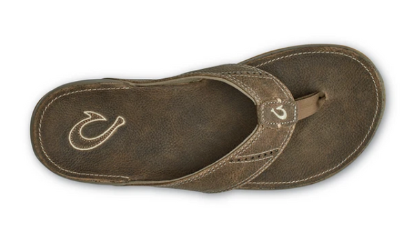 OLUKAI NUI MENS LEATHER BEACH SANDALS