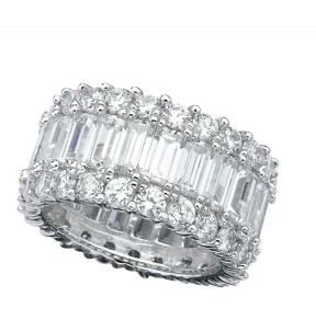 CRISLU BAGUETTE ETERNITY BAND