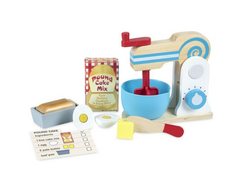 WOODEN MAKE A CAKE MIXER SET