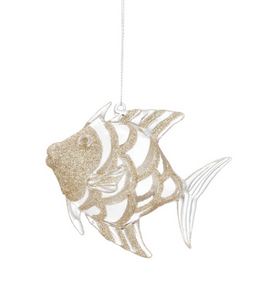GOLD CRYSTAL FISH ORNAMENT