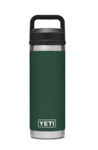 YETI RAMBLER 18 OZ BOTTLE CHUG NORTHWOODS GREEN