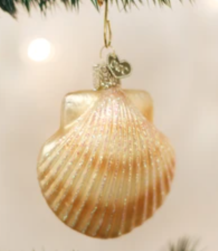 COMING SOON!  SCALLOP SHELL ORNAMENT