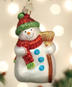 COMING SOON!  SNOWMAN WITH BROOM ORNAMENT