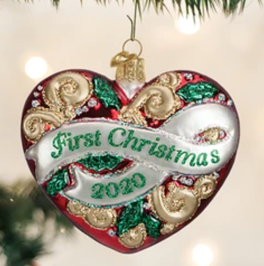 COMING SOON!  2020 FIRST CHRISTMAS HEART ORNAMENT