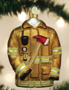 COMING SOON!  FIREFIGHTER'S COAT ORNAMENT