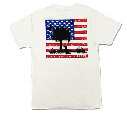 LOCAL BOY OUTFITTERS USA FLAG & MARSH