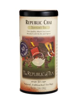 THE REPUBLIC OF TEA BRITISH BREAKFAST BLACK 50 TEA BAGS