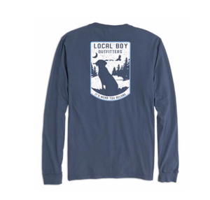 LOCAL BOY LONG SLEEVE BLUE RIDGE CHINA BLUE