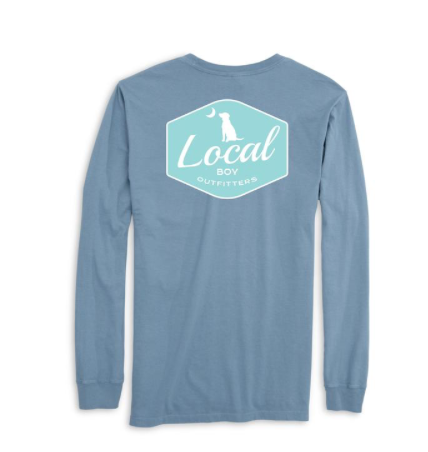 LOCAL BOY LONG SLEEVE BADGE SLATE
