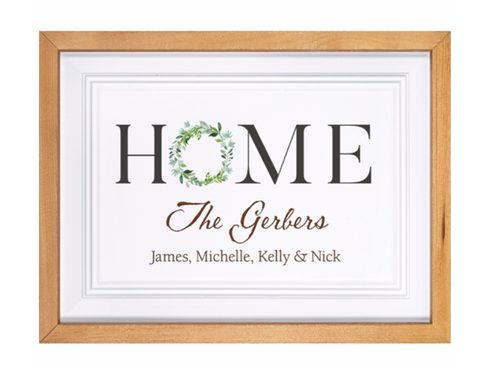 PGD HOME FRAMED SIGN-PERSONALIZATION AVAILABLE