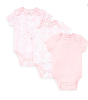 LITTLE ME DAMASK SCROLL BODYSUITS