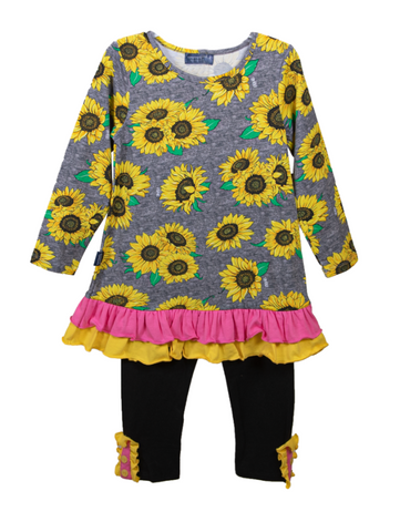 SIMPLY SOUTHERN SUNFLOWER TODDLER SET