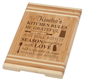 PGD-BAMBOO CUTTING BOARD-PERSONALIZATION AVAILABLE