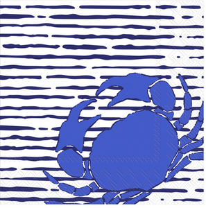 WATERLINE CRAB PAPER LUNCH NAPKINS