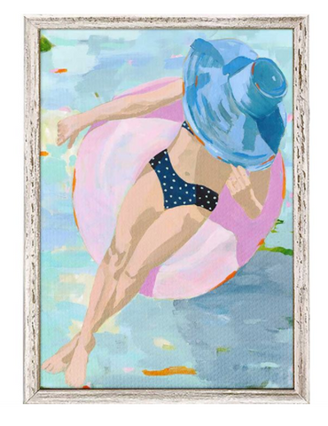 BATHING BEAUTIES AMELIA,MINI FRAMED CANVAS