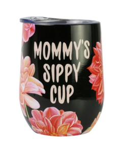 MOMMY'S SIPPY CUP WINE GLASS