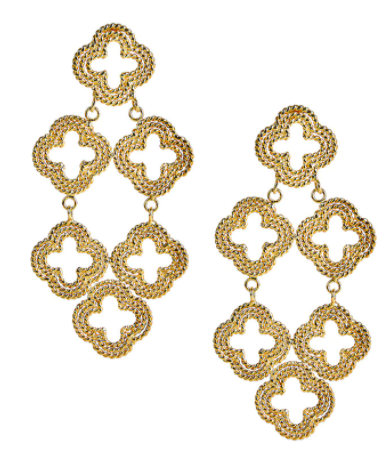 LISI LERCH NEELY GOLD EARRING