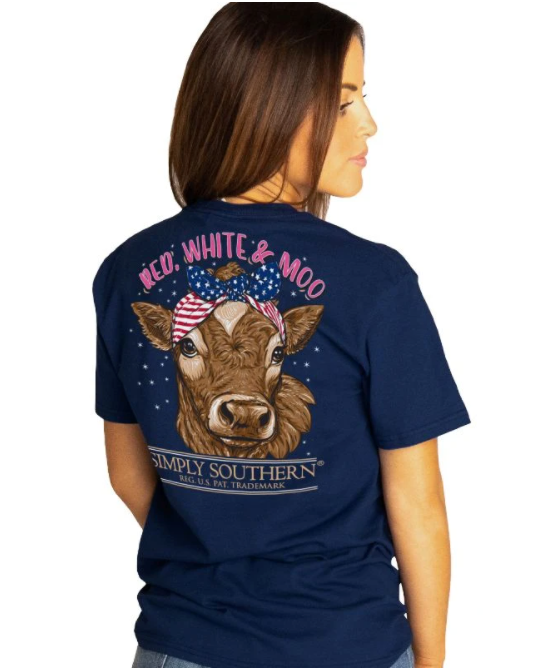 SIMPLY SOUTHERN RED WHITE AND MOO