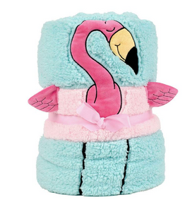 ENESCO FLAMINGO SNOW THROW