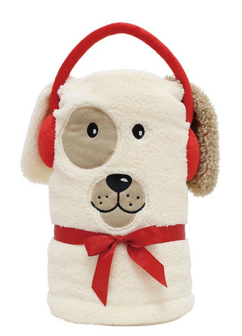 ENESCO DOG SNOW THROW