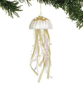 ENESCO COAST PACIFIC GOLD JELLYFISH ORNAMENT