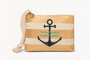CARINA WRISTLET ANCHOR STRIPE