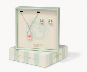 SPARTINA MERMAID GLASS BOXED SET IRIDESCENT