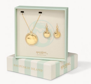 SPARTINA AURA GLASS BOXED SET WHITE OPAL