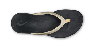 OLUKAI HO'OPIO WOMENS BEACH SANDAL IN BUBBLY/BLACK