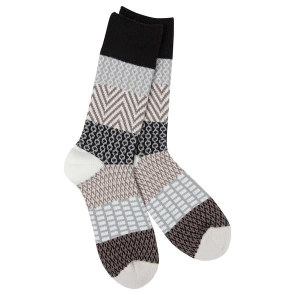 COZY WEEKEND GALLERY CREW NIGHTFALL SOCKS