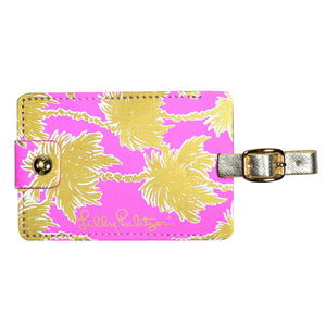 LILLY PULITZER LUGGAGE TAG METALLIC PALMS