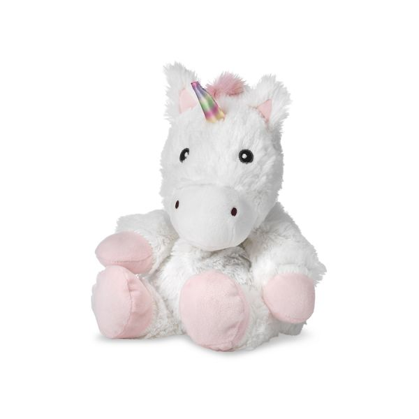 "WARMIES 13"" WHITE UNICORN"