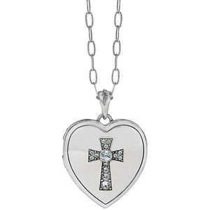 CALL TO LOVE HEART DOUBLE LOCKET