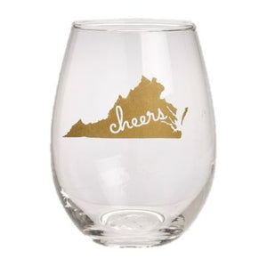 VIRGINIA STATE WINE GLASS