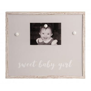SWEET BABY GIRL GRAY MAGNET FRAME